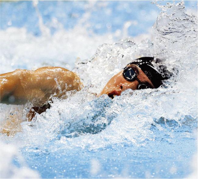메달을 따지 못했지만 한국 신기록, 아시아 신기록 등을 세우며 감동을 준 수영 황선우 선수. [뉴시스]