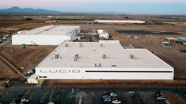 미국 애리조나주 카사그랜드에 자리한 루시드 모터스 제조 공장. [사진 제공 · 루시드 모터스]