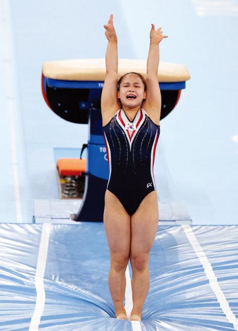 한국 여자 기계체조 사상 처음으로 올림픽 메달을 딴 여서정 선수. [동아DB]