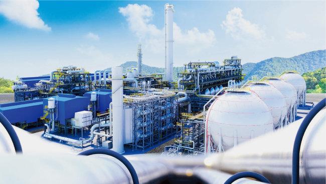 연간 부생수소 약 3만t을 생산하는 SK가스 관계사 SK어드밴스드 울산공장. [사진 제공 · SK가스]
