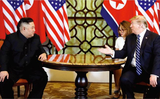2019년 2월 27~28일 베트남 하노이에서 열린 북· 미 정상회담. [AP=뉴시스]