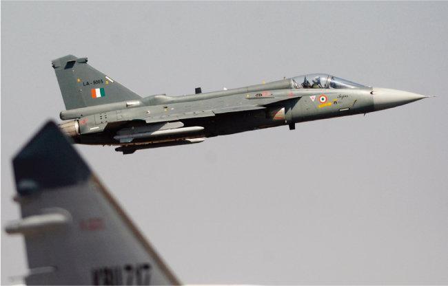 인도 국영 방위산업체 힌두스탄항공(HAL)의 테자스 전투기. [뉴시스]