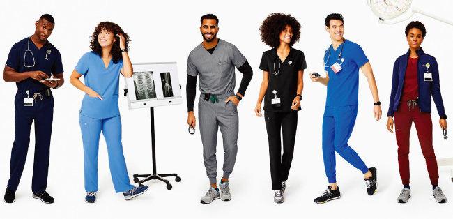 한국과 달리 미국 의사와 간호사 등 의료계 종사자는 의료복을 개별적으로 마련한다. [피그스 홈페이지 캡처]