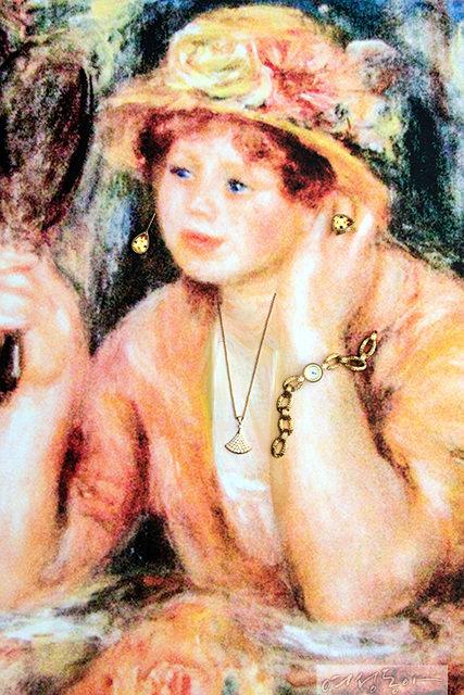 르누아르, 거울을 든 젊은 여인