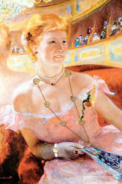 메리 스티븐슨 커샛, 진주목걸이를 한 관람석의 여인