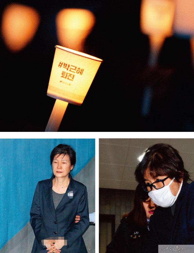 국정 농단 혐의로 구속 수감된 박근혜 전 대통령과 최순실 씨. 각각 1심에서 징역 24년형과 20년형을 선고받았다.