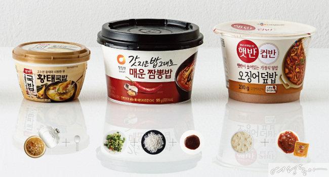 마트 컵밥 인기 분석