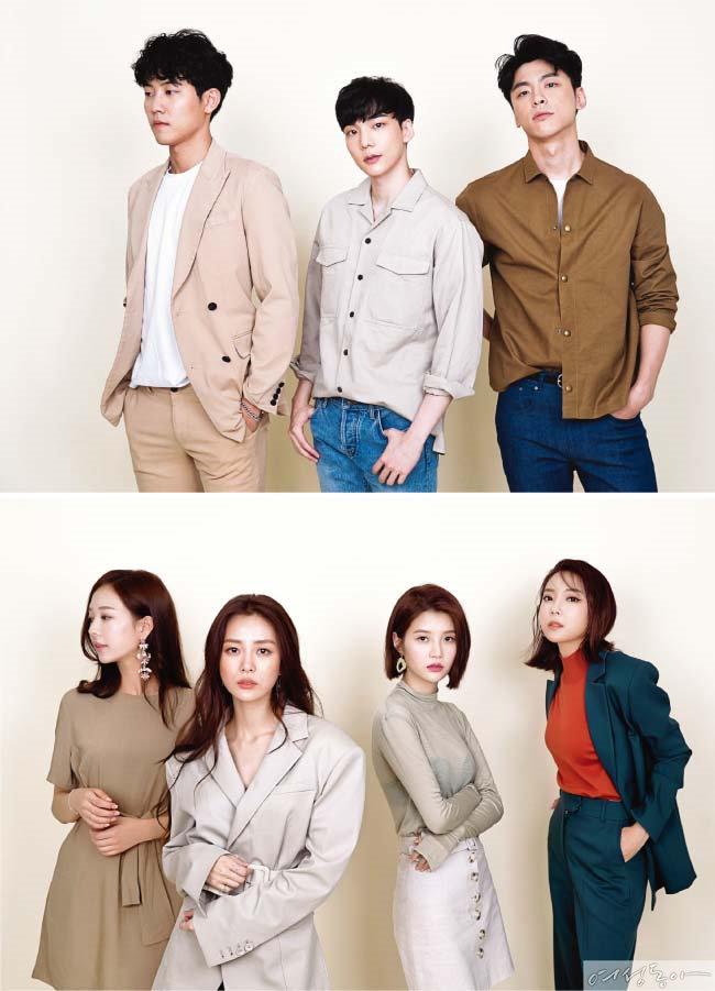 이규빈, 정재호, 김도균(위) 오영주, 송다은, 임현주, 김장미