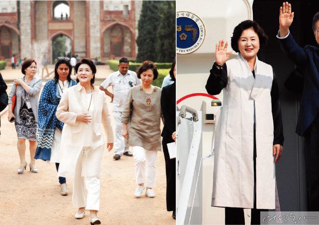 김정숙 여사는 한국 전통 스타일을 잘 활용한다.