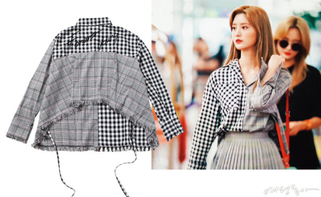 FOREVER YOUNG GLEN CHECK BLOUSE_BLACK 19만9천원. @jeonghwa_0508