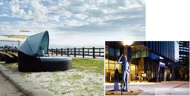 메종 글래드 제주의 프라이빗 비치 하우스. (왼쪽) 글래드 강남 코엑스센터.
