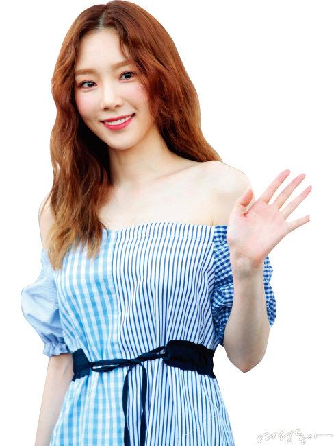 소녀시대 태연의 골드브라운 헤어.