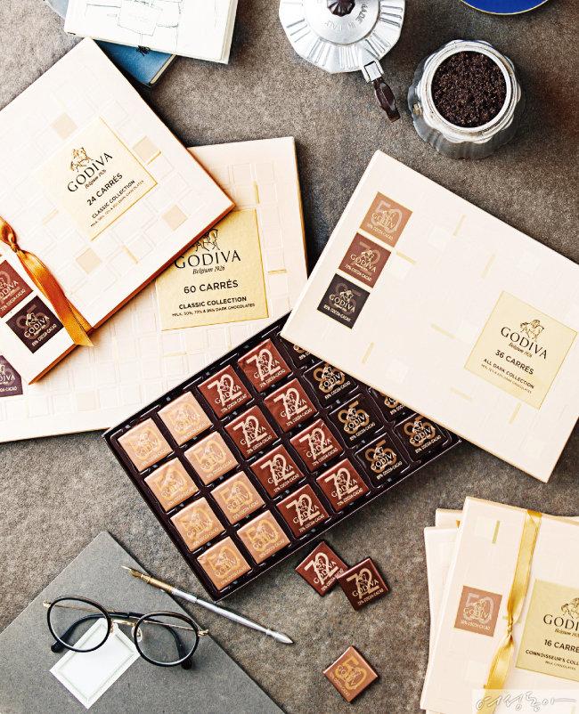 고디바 까레 컬렉션_고급 카카오로 만든 최고의 품질을 자랑하는 플레인 초콜릿. 일명 '수능 초콜릿'으로 불리며 수험생과 학부모들 사이에서 인기다.