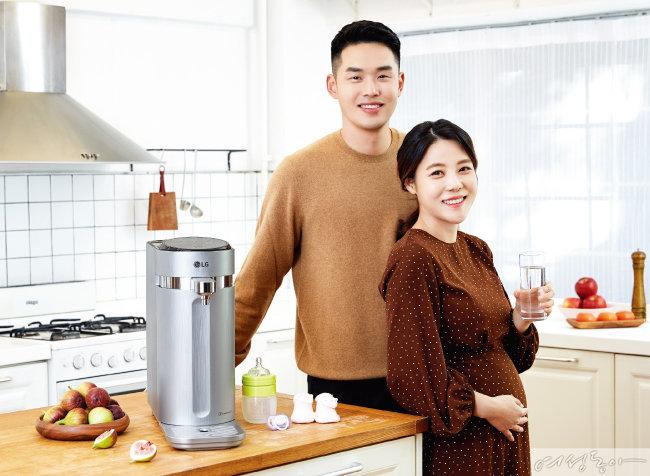 임신부 윤미애 씨의 LG 퓨리케어 정수기 예찬