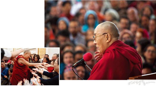 2년 만에 일본을 방문한 달라이 라마를 친견하기 위해 많은 한국인들도 강연을 찾았다. 달라이 라마 공식 홈페이지.