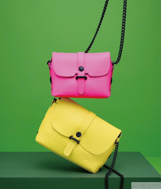 (위부터) 핑크 컬러 23만원, 옐로 컬러 23만원.