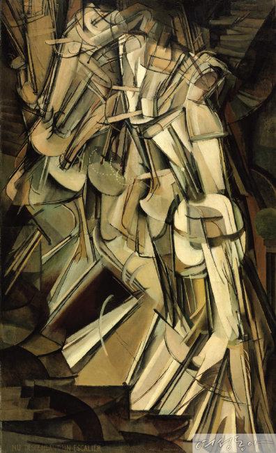 계단을 내려오는 누드(No. 2), 1912, 캔버스 유채, 147x89.2cm, Philadelphia Museum of Art