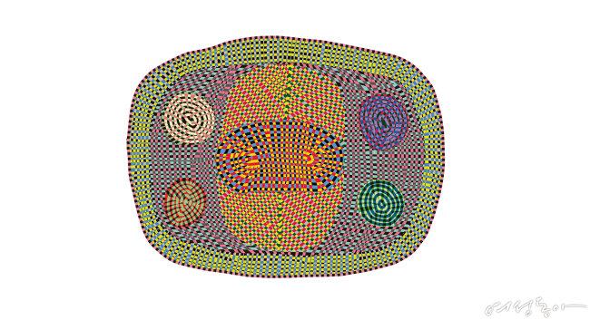 자유로운 곡선이 화려함을 더하는 카펫. 225×295cm 가격미정 웰즈.