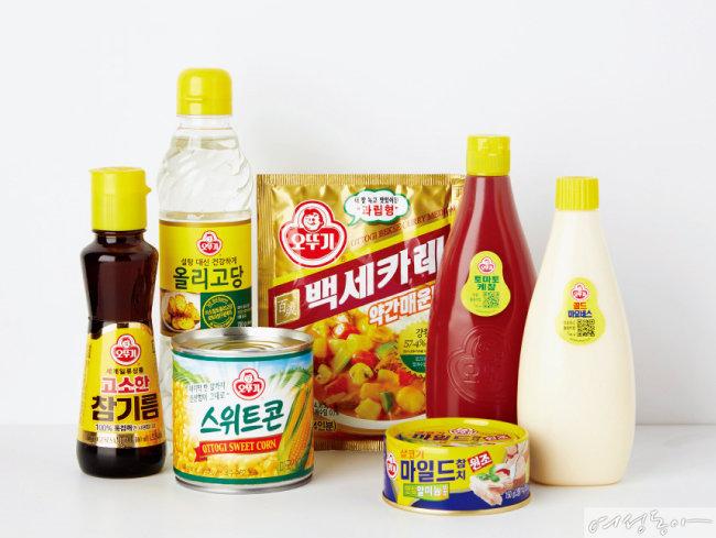 '스위트홈 오뚜기 가족요리 페스티발' 참가자들이 무상으로 활용할 수 있는 오뚜기 제품들.