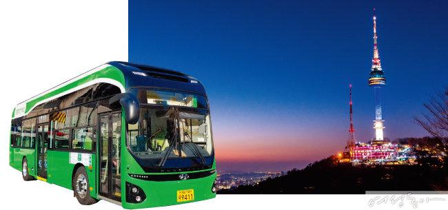 서울시 시내버스가 모두 압축천연가스 버스로 교체된 데 이어 경유 마을버스도 친환경으로 교체돼 서울의 공기가 한층 맑아질 전망이다.