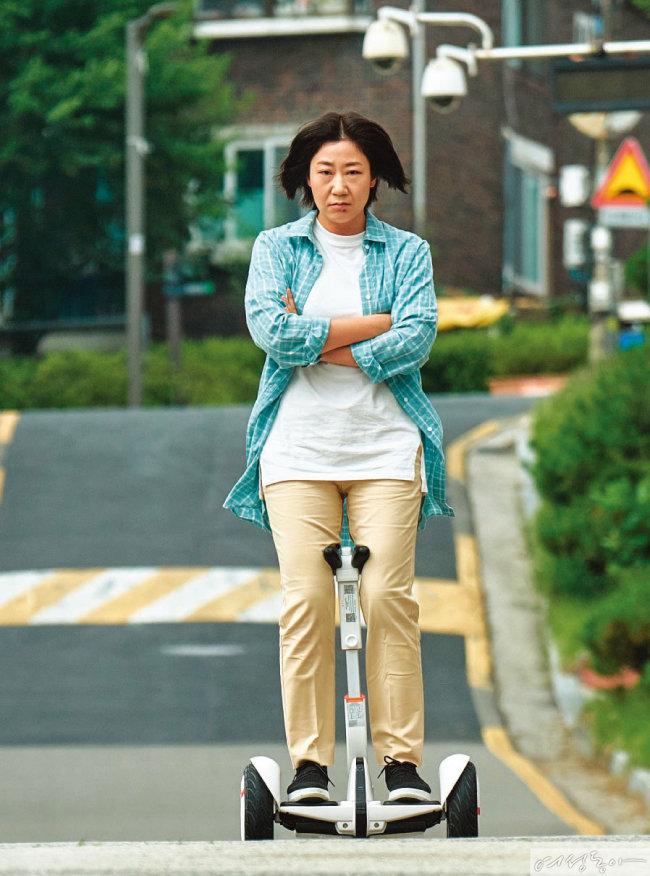 영화 '걸캅스'로 생애 첫 주연을 맡은 라미란.