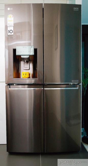 깨끗함이 그대로, LG DIOS 얼음정수기냉장고