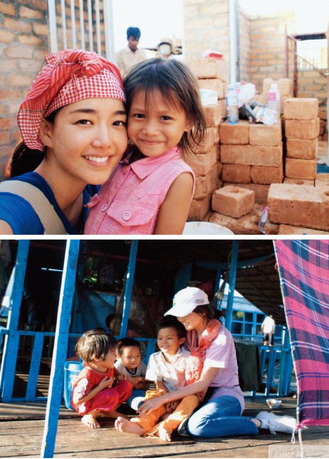 김희영 티앤씨재단 이사장은 대학시절부터 해비타트 등 봉사활동에 꾸준히 참여해왔다.  사진은 과거 그녀의 봉사활동 모습.