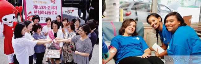 국제위러브유는 2004년부터 꾸준히 헌혈운동을 전개해 오고 있다.