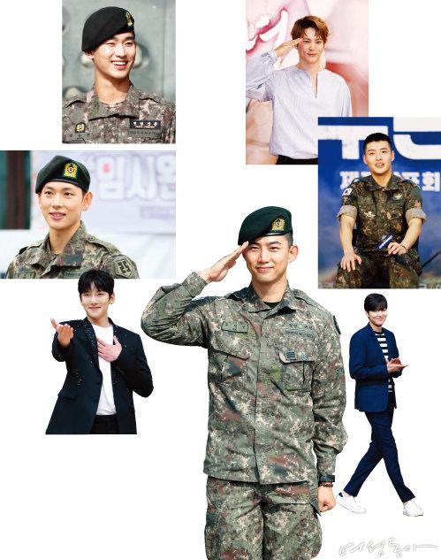 (오른쪽 위부터 시계 방향)주원, 강하늘, 이민호, 옥택연, 지창욱, 임시완, 김수현