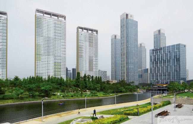 송도국제도시 내 센트럴파크.