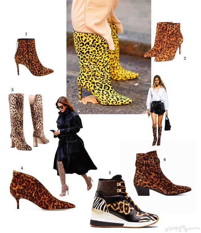 EXOTIC PRINT BOOTS