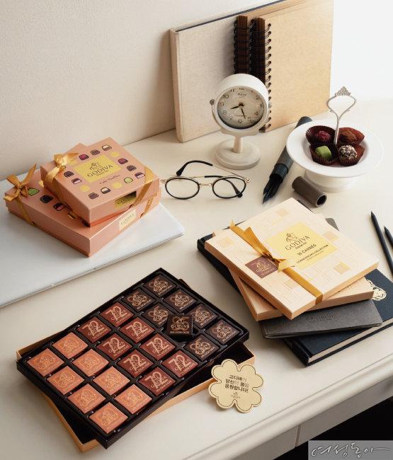 고디바 까레 초콜릿은 낱개로 개별 포장돼 공부하면서 지칠 때 등 집중이 필요한 순간 간편하게 먹을 수 있어 좋다. 또 휴대가 간편해 수험생을 위한 선물로도 안성맞춤이다.