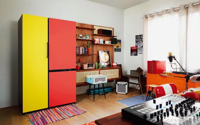 비스포크는 모델과 색상, 재질을 취향대로 선택해 나만의 냉장고를 만들 수 있다. 삼성전자.