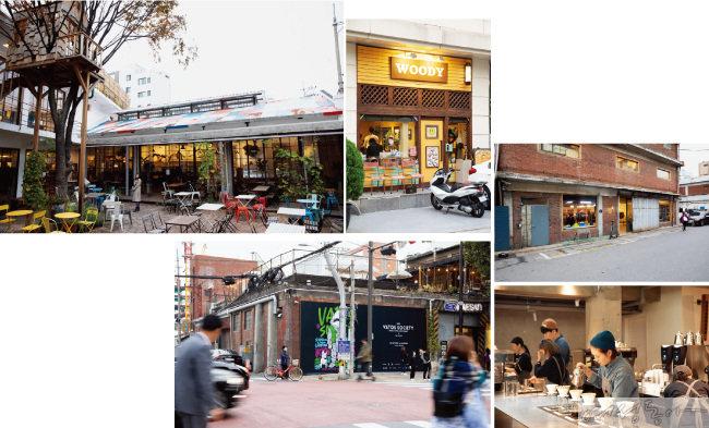 독특한 분위기의 카페와 레스토랑, 전시장이 밀집한 성수동.