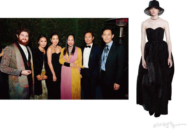 올해 LACMA 아트+필름 갈라에 동반 참석한 임세령·이정재 커플(왼쪽). 임세령의 드레스는 디올 제품이다.