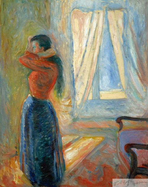 Edvard Munch, 'Woman-Looking in the Mirror'.