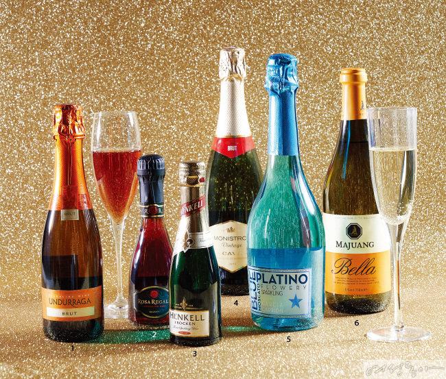 12월을 위한 스파클링 와인