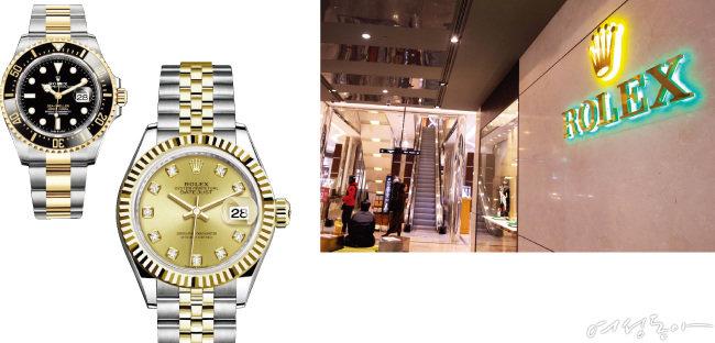최근 롤렉스의 인기 모델은 물건이 없어 출근 도장을 찍어야 겨우 구매할 수 있다고 한다. 왼쪽부터 롤렉스 서브마리너, 데이저스트.