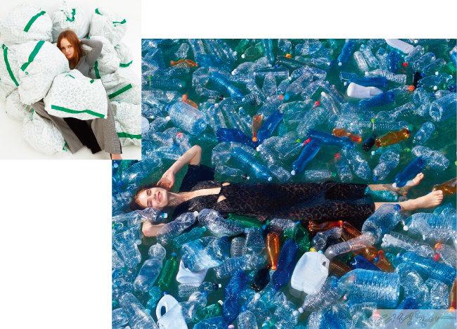 지속 가능한 패션을 추구하는 스텔라매카트니의 광고 캠페인.