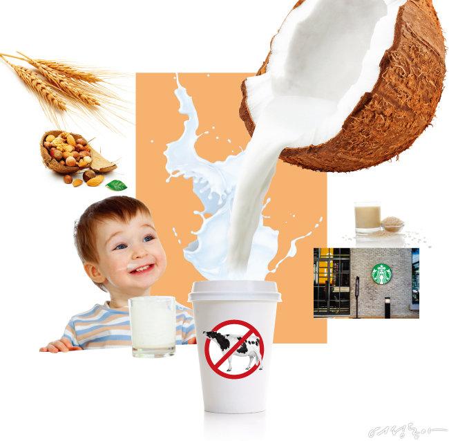 우유 아닌 대체 우유