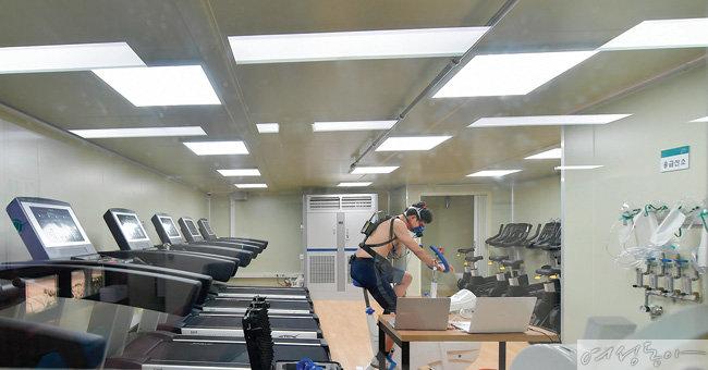 건강증진 및 운동선수들의 경기력 향상 프로그램을 개발하고 있는 건국대 메타볼릭 환경제어 연구센터.