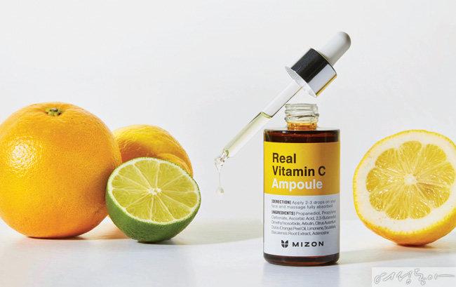 미백·보습·탄력·항산화 케어까지 한 번에  미즈온 리얼 비타민 C 앰플
