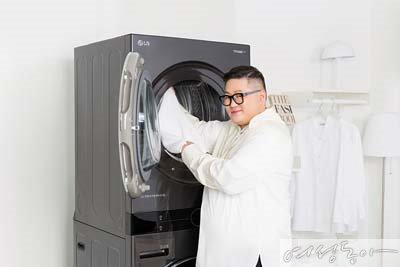 스타일리스트 정윤기가 콕 집어 선택한 원바디 세탁건조기, LG 트롬 워시타워