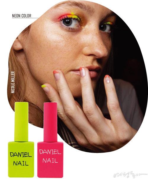 다니엘네일 네온 라인 컬러 컬렉션. 11ml 각 4만4천원.