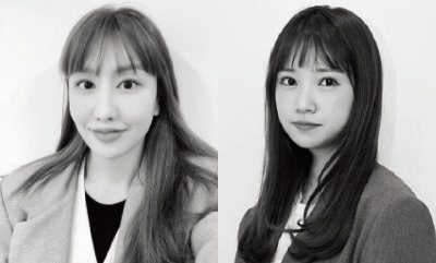 hair 다겸(팀바이블룸)(왼쪽). makeup 푸름(팀바이블룸)