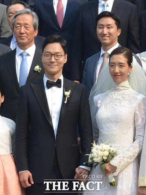 정몽준 이사장의 장녀 정남이 씨의 2017년 결혼식 당시 모습. 신부와 같은 드레스를 입었다.