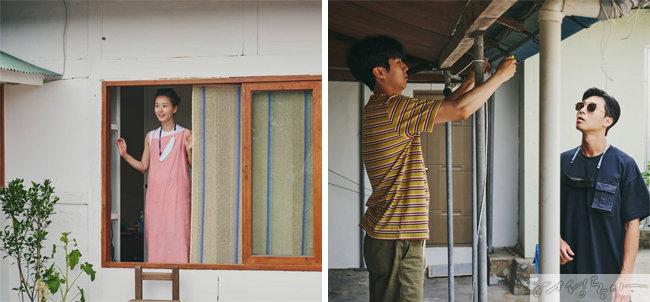 예능 프로그램 '여름방학'에 출연한 박서준, 정유미. 패셔너블한 마스크 스트랩이 눈길을 끈다. ['여름방학' 인스타그램]