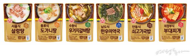 지역 전문점의 맛을  고스란히 녹여낸  든든한 보양식,  오뚜기의 국/탕/찌개.