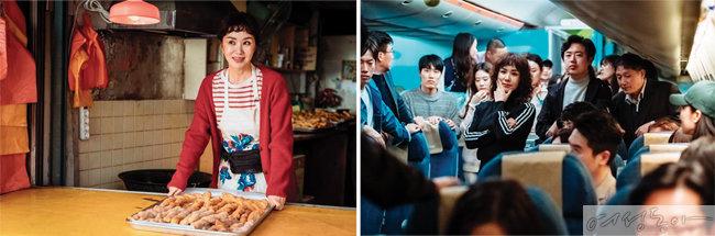 5년 만에 출연한 영화 '오케이 마담'에서 생애 첫 액션 연기를 선보인 엄정화.