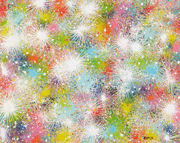 빛은 나의 희망, 2020, acrylic on canvas. 'ACEP 2020 발달장애 아티스트 한국특별전'에 소개될 화가 김은지 씨의 작품.